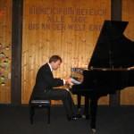 Michael Kuhn beim öffentlichen Klavierabend in Wildberg