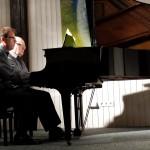 Michael Kuhn und Christoph Ewers vierhändig beim Klavierabend, 2015
